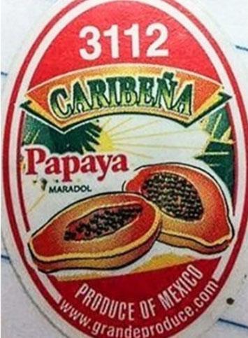 Caribeña Papaya Maradol Image/FDA