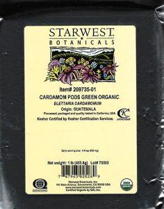 Organic Cardamom Pods Green (Whole) /FDA